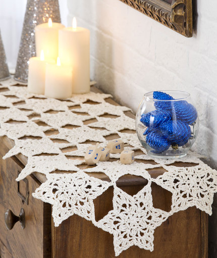 Crochet Patterns Galore Star Table Runner