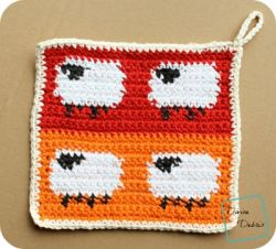 Dancing Sheep Potholder