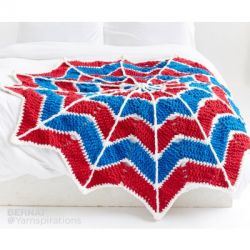 Spiderweb Crochet Blanket