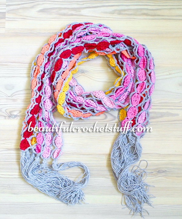 Crochet Patterns Galore Colorful Scarf