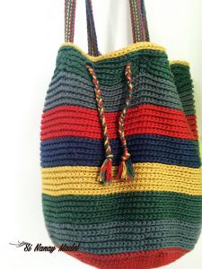 Over-sized Stripped Market Bag