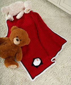 Playful Penguin Blanket