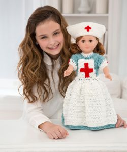 Caring Nurse Doll to Crochet