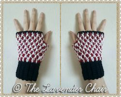 Mrs. Clause's Peppermint Fingerless Gloves