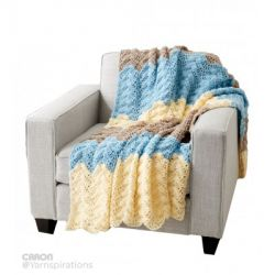 Seaside Ripple Crochet Afghan