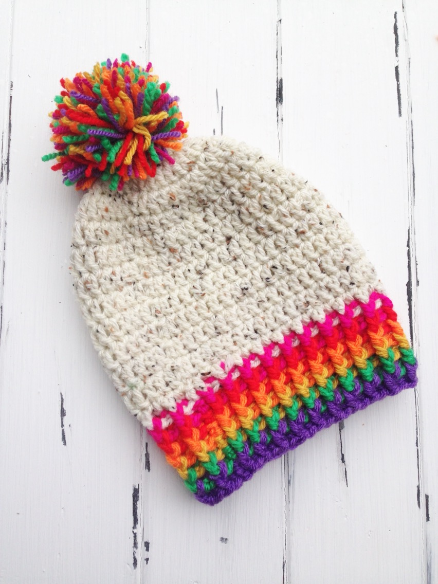 Crochet Patterns Galore - Rainbow Toddler Beanie
