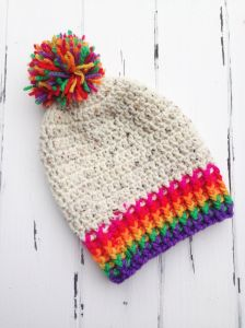 Rainbow Toddler Beanie