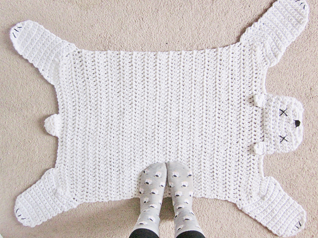 Crochet Patterns Galore Polar Bear Rug