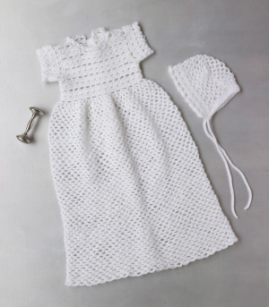 Crochet Patterns Galore Crocheted Christening Gown And Bonnet