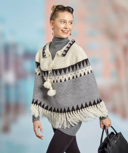 Canyon Ridge Fringed Poncho