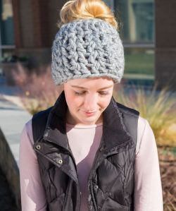 On-Trend Messy Bun Hat