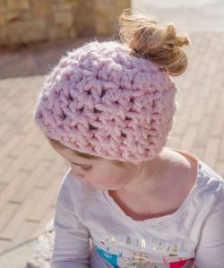 Childs' Messy Bun Hat