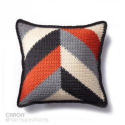 Bold Angles Crochet Pillow