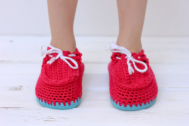 Crochet Patterns Galore Toddler Boat Shoes From Flip Flops