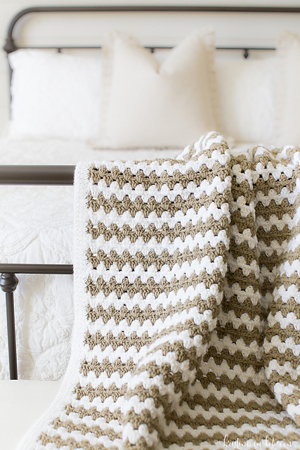 Crochet Patterns Galore Simple Granny Stripe Afghan
