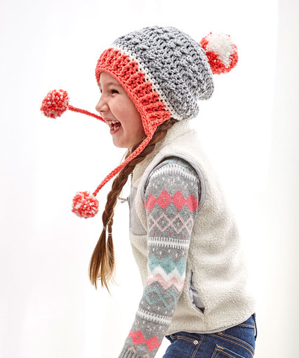 Crochet Patterns Galore Little Miss Pompom Hat