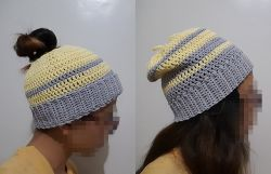 2-in-1 Messy Bun and Slouchy Beanie