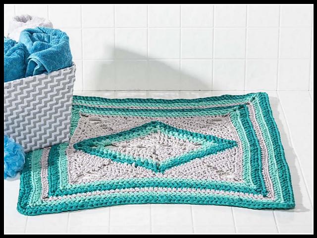 Crochet Patterns Galore - Sea-Glass Bath Mat