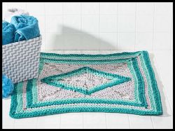 Sea-Glass Bath Mat