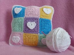 Pastel Hearts Mini Pillow