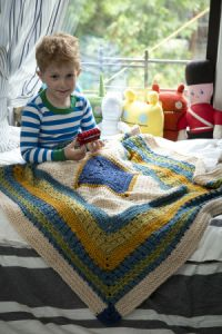 Free: Little Boy Blue Blanket