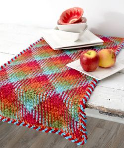 Planned Pooling Argyle Table Runner