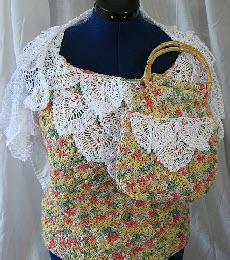 Peppercorn Top, Shrug and Purse Set