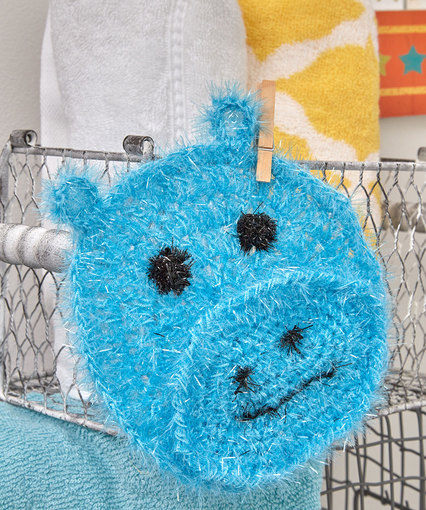 Crochet Patterns Galore Happy Hippo Face Scrubby