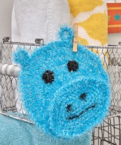 Happy Hippo Face Scrubby