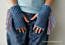 Fringe Gloves