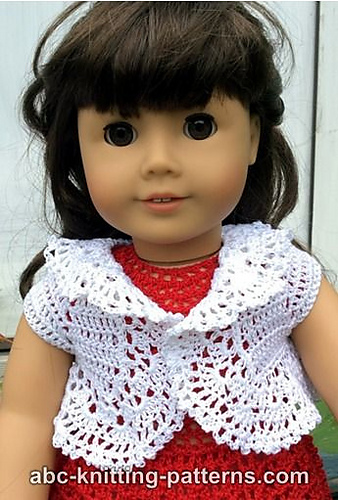 Crochet Patterns Galore American Girl Doll Vintage Lace Bolero