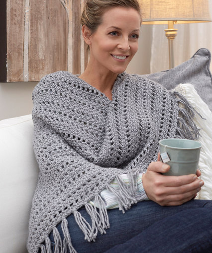 Free Crochet Patterns For Ponchos And Shawls : Crochet Patterns Galore - Genuine Pleasure Shawl