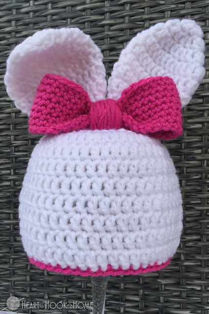 Crochet Patterns Galore - Bunny Beanie with Ears