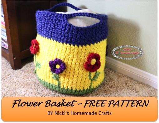 Free Crochet Flower Basket Pattern : Crochet patterns galore flower basket