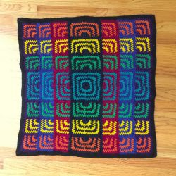 Rainbow Sunburst Blanket