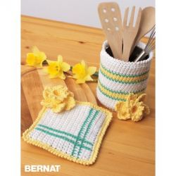 Springtime Crochet Kitchen Accessories
