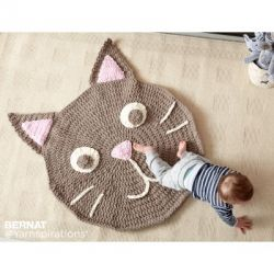 Purrrfect Crochet Play Rug