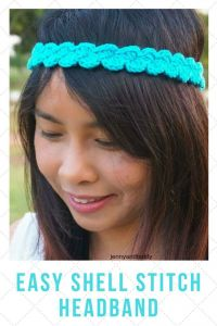 Easy Shell Stitches Crochet Headband