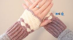 Shell Stitch Wrist Warmers