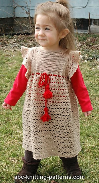 Crochet Patterns Galore Flower Girl Lace Dress