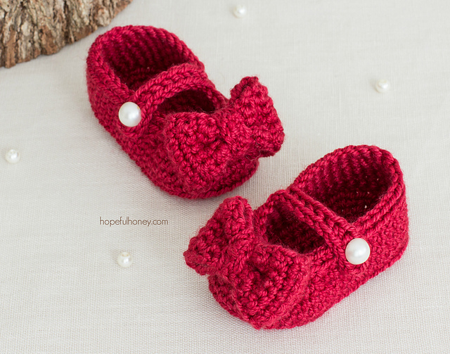 Crochet Patterns Galore Ruby Red Mary Jane Booties
