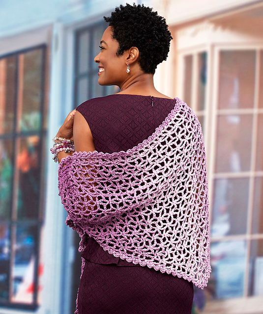 Crochet Patterns Galore Lacy Isosceles Shawl