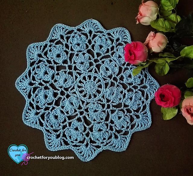 Crochet Patterns Galore - Flower Wheel Doily