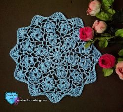 Flower Wheel Doily