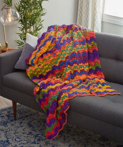 Vibrant Stripes Throw