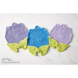 Too Cute Tulip Crochet Potholder