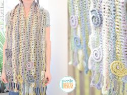 Sunrise Seashells Wavy Scarf