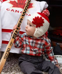 Maple Leaf Earflap Hat