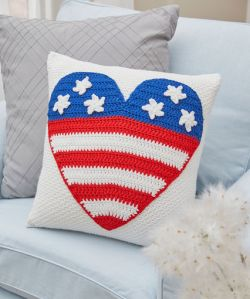 Patriot Heart Pillow