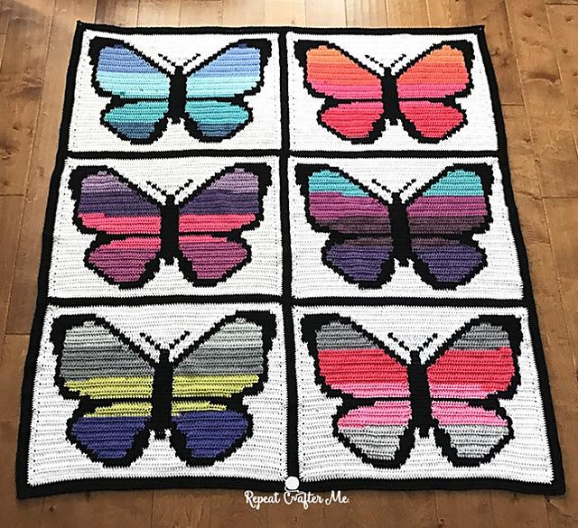 Crochet Patterns Galore Bernat Pop Butterfly Graphgan